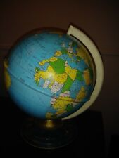 "Vtg 60' Retro Ohio Art Tin Metal Litho World Globe Zodiac Star Signs Symbols 29"""