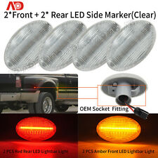 4PCS LED Dually Bed Front+Rear Side Fender Marker Light For Ford F150 F250 F350