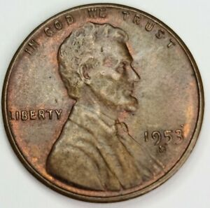 1953 S / S  RPM Lincoln Wheat On Cent USA Penny.  San Francisco Mint. 1953-S RPM