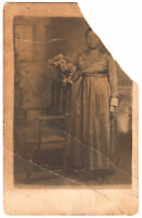 Antique Photo African-American Woman Real Photo Postcard RPPC Black Americana