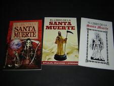 #8 JUEGO 3 BOOKS SANTA MUERTE libros rituales oraciones ofrendas