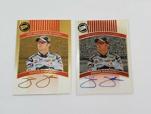 Jimmie Johnson 2003 Press Pass Signings Gold + Plastic Cards
