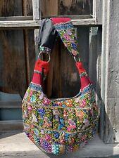 Unique Guatemalan big hobo embroidered huipil  Handbag ethnic bohemian bags