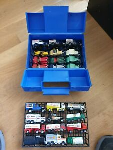MATCHBOX CARRY CASE WITH 24 DIE CAST TRUCKS & CARS.