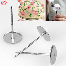 Stainless Steel Ice Cream Cake Decorating Flower Nail Tool Cake Flower Needle