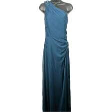 NWT Alex Evenings Turquoise Beaded Sleeveless Formal Dress Women's Size 16