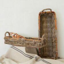 Rectangular Kubu Tray Small Basket Wooden Storage Basket, Basket with Handles