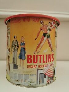 Butlins biscuit Barrel Tin memorabilia Retro