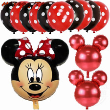 Disney Red Minnie Mouse  Balloons - 13 Pieces - Birthday Party Foil Balloons