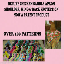 1 DELUXE CHICKEN SADDLE HEN APRON  WINGS BACK SHOULDER CHICKEN HATCHING EGGS