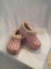 VGUC  Crocs Mammoth Girls Clogs Fleece Lined  Size 10 C 11 Color Pink
