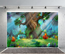 4x2.5ft Green Magic Forest Vinyl Props Photo Background Studio Photography