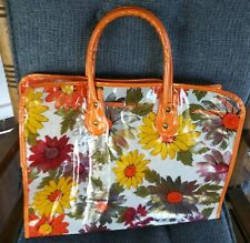 Mod Flower Power Vtg 70s Clear Vinyl Tote Bag Daisies from personal collection