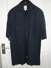 M AND S MENS LINEN/VISCOSE SHORT SLEEVE SHIRT SIZE S//37 CHEST