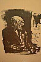 ARBIT BLATAS Original Signed Vintage Marc Chagall Abstract Portrait Lithograph