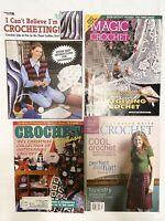 Crochet Pattern Books & Magazines - Lot of 4 - Leisure Arts - Interweave - Magic