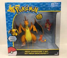 Pokemon Mega Charzard Y Set Battble Large - Charmeleon Charmander Tomy New! 2017