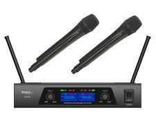Ibiza Sound UHF Dual Handheld Radio Microphone UHF-20 Wireless DJ Karaoke Disco