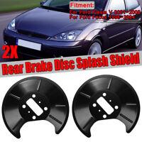PAIR For Ford Fiesta V Focus MK1 Rear Left + Right Brake Disc Splash Shield