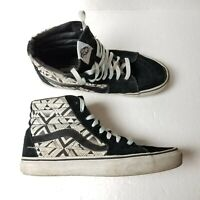 Vans Skateboard Shoes Sneakers High Mens Size 7.5 Womens Size 9 Black 721454