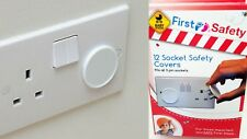 3 Pin PLUG SOCKET PROTECTOR SAFETY COVERS CHILD BABY MAINS SOCKET COVER 12pcs