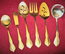 Oneida ~ Chateau Gold ~Set of 6 Serving Utensils Stainless Electroplate Flatware