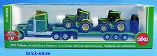 SIKU 1837 / 1:87 SIKU Farmer / Tieflader mit  2 John Deere Traktoren