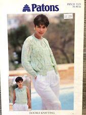 """Patons Knitting Pattern: Ladies Cardigan & Top, DK, 30-40"""", 5123"""
