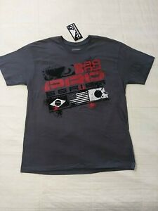 NEW! Bad Boy Badboy MMA Mixed Martial Arts Men's T Shirt - Gray & Red - Sz M