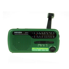 DEGEN DE13 Hand Crank Radio FM AM Shortwave Solar Power Green Christmas Gift