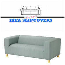 IKEA KLIPPAN Loveseat Couch Slipcover, 2 Seat Sofa Cover, Lyckebyn dark gray NEW