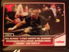 2013 Topps Best of WWE #92 Paul Heyman's Fight Against Mr. McMahon RED Mint