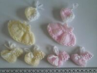 Baby Girl / Baby Boy Card craft Toppers knitted Embellishments  Hand Knitted
