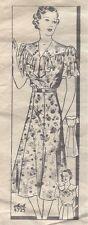 "1930s Vintage Sewing Pattern DRESS B38"" (16) By 'ANNE ADAMS'"