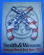 Western Cabin Lodge Barn Stable Decor ~SMITH & WESSON AMERICAN BORN~ Metal Sign