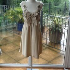 Per Speciale Cream Silk Dress Size 12 With Sequin Dretail