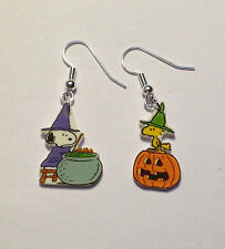 Woodstock Snoopy Earrings Brewing Potion Halloween Charms Mix Match Set
