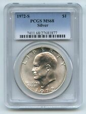 1972 S $1 Silver Ike Eisenhower Dollar PCGS MS68