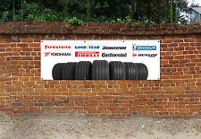 Neumáticos Logo taller, garaje, oficina O Sala De Exposición PVC Banner