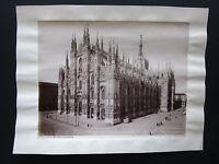 1890ca MILANO LA CATTEDRALE Duomo foto Brogi originale d'epoca albumina 19x25 cm