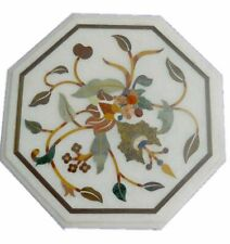 """12""""x 12"""" Decorative Marble Inlay Coffee Table Top"""