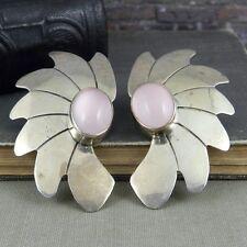 Carol Felley Sterling Silver & Rose Quartz Earrings