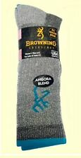 4 PAIR WOMEN'S BROWNING ANGORA BLEND BOOT SOCKS - SHOE SIZE 6-9 -MADE IN THE USA