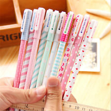 10x Colorful Printed Student 0.38mm Gel Pens Practical Office School Accessories