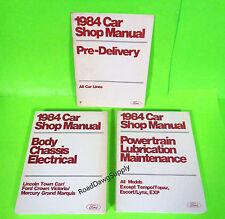 1984 Ford Crown Victoria Grand Marquis Town Car Service Repair Manual Book Set