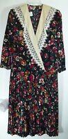 *NWT* MECHYS WOMENS LADIES MULTICOLOR FLORAL DRESS SIZE LARGE E65