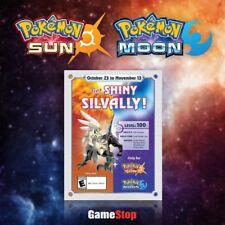 Pokemon Sun Pokemon Moon Get Shiny Silvally Level 100 Nintendo 3DS Event Card