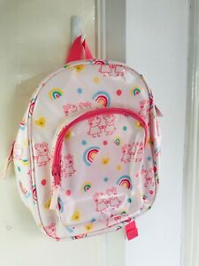 Girls Small School Backpack Peppa Pig and Susie Sheep Pink Marks & Spencer NEW