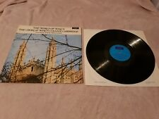 THE WORLD OF KING'S COLLEGE CHOIR - DAVID WILLCOCKS (DECCA SPA 245) VINYL LP