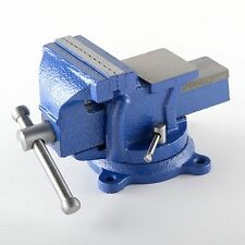"4"" Bench Vise w/ Anvil Swivel Locking Base Tabletop Clamp Heavy Duty Steel"
